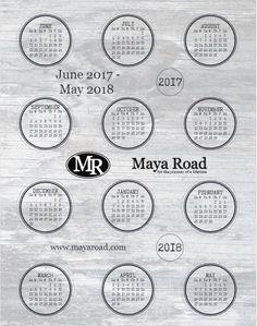 2017- 2018 Maya Road Calendar - FREE