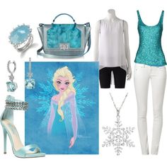 """""""Snow Queen"""" by anconway on Polyvore inspired by Disney's Frozen, Queen Elsa"""