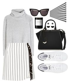 """Monochromatic Minimalism"" by modern-vogue ❤ liked on Polyvore featuring Marni, Fendi, Chloé, adidas, Thierry Mugler, Byredo and Christian Dior"