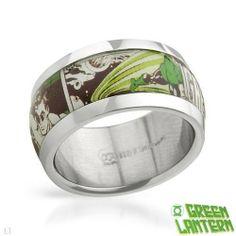 Green Lantern Stainless Steel Unisex Ring. Ring Size 10. Total Item weight 7.6 g. Green Lantern. $19.00