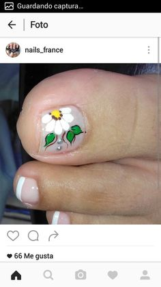 Uñas Cute Pedicures, Cute Nails, Pretty Nails, My Nails, Summer Toe Nails, Toe Nail Art, Manicure And Pedicure, Nail Art Designs, Makeup