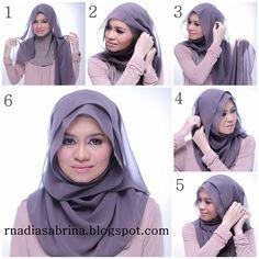hijab tutorial round face