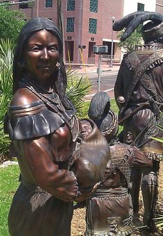 Seminole Indian sculpture outside Florida History Museum, Tallahassee.