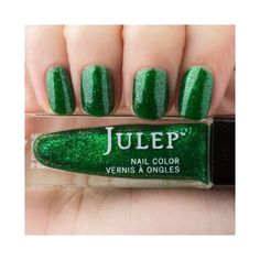 Cher Emerald for May (€9,43) ❤ liked on Polyvore featuring beauty products, nail care, nail polish and shiny nail polish