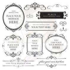 Calligraphy Wedding Invitation Clip Art Clipart by MayPLDigitalArt, $6.50