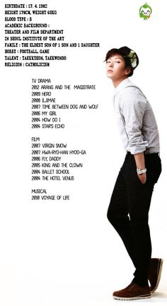 i love this picture of lee joon gi C: it tells you all his projects and his info <3 Lee Jun Ki is the best!!