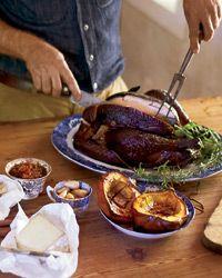 Wood-Smoked Turkey // More Smoked Food Recipes: http://www.foodandwine.com/slideshows/smoked-foods #foodandwine