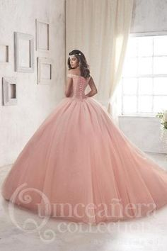 f07fa1ae386 Quinceanera Ballgown Fiesta Dresses. Rose Gold Quinceanera ...