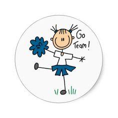 Blue Go Team Cheering Sticker