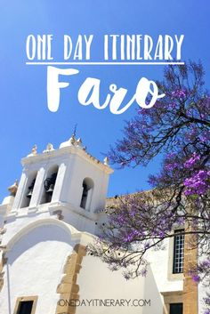 One day in Faro itinerary - Top things to do in Faro, Portugal Need some peace and quiet in Portugal? Spend One day in Faro and get to know this beautiful little town while chilling out and recharging your batteries. Faro Portugal, Visit Portugal, Spain And Portugal, Portugal Trip, Algarve, Places To Travel, Places To See, Travel Destinations, Elite Hotels