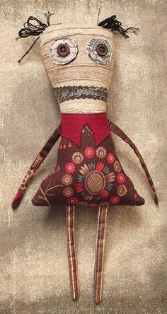 Stuffed Monster Doll, Plush Art Doll - Alice. $42.00, via Etsy.