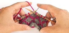 How to knit using multiple colors.