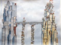 Two Towers on Illustration Served