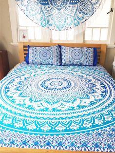 SHANTIQUE DESIGNS Boho bohemian mandala bed spread!   www.shantiquedesigns.com