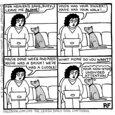 94 Hilarious Comics About Life With Dogs By Off The Leash - Funny Dog Quotes - Funny Dog Cartoons The post 94 Hilarious Comics About Life With Dogs By Off The Leash appeared first on Gag Dad. Dog Quotes Funny, Funny Dogs, Funny Animal Pictures, Funny Animals, Animal Funnies, I Love Dogs, Puppy Love, Dog Comics, Cartoon Dog