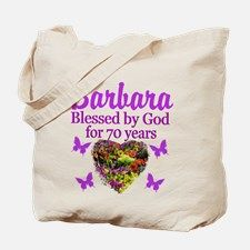 JOYOUS 70TH Tote Bag Spiritual and uplifting 70th birthday T Shirts and gifts for the faith filled 70 year old. http://www.cafepress.com/heavenlyblessings/12705787 #70yearsold #Happy70thbirthday #70thbirthdaygift #Christian70th #happy70th #Personalized70th #70thprayer