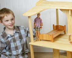 Dollhouse Kits, Wooden Dollhouse, Barbie Furniture, Dollhouse Furniture, Handmade Furniture, Wooden Furniture, Handmade Birthday Gifts, Eco Friendly Toys, Wood Patterns