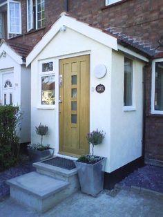 New House Entrance Porch Window Ideas Porch Uk, House Front Porch, Front Porch Design, Up House, House Entrance, Entrance Hall, Brick Porch, Porch Windows, Porch Doors