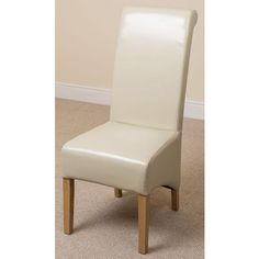 Scroll Back Black Leather Dining Chair With Solid Oak Legs  Oak Amazing Ivory Leather Dining Room Chairs Review