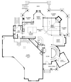 another dream house with a gorgeous staircase that's open all three floors.