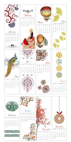 beautiful calendar from Pikake Press on etsy.