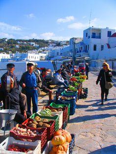 At the market, Mykonos Greece