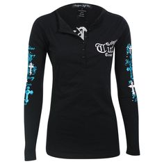 Cowgirl Tuff Women's Long Sleeve Embroidered Henley Cowgirl Tuff Co. Pin in to win it!! http://www.cowgirltuffco.com/products/