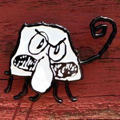 Spongebob Squarepants Squid Doodle Enamel Lapel Pin by kreeplord