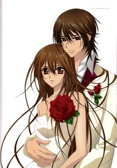 Yuuki and Kaname, Vampire Knight. All time favorite Japanese anime! Once I lose some weight, would love to cosplay Yuki!