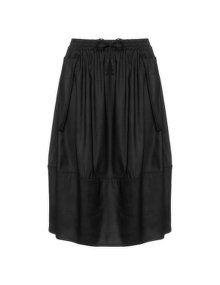 Isolde Roth Linen mix midi skirt in Black