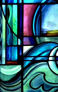 Contemporary stained glass.