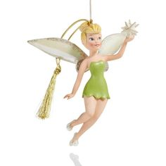 Lenox Annual 2017 Disney's Up and Away Tink Ornament ($21) ❤ liked on Polyvore featuring home, home decor, holiday decorations, multi, disney holiday decor, disney tinkerbell ornament, annual ornament, tinkerbell ornament and porcelain ornaments