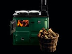 Rayburn stoves sound awesome.  Cook, heat and heat hot water with these high quality wood burning stoves.