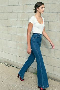 These flare jeans are making a comeback.