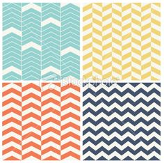 Four Seamless Chevron Patterns Royalty Free Stock Vector Art Illustration