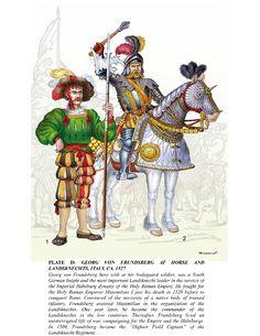 Renaissance Image, Italian Renaissance, Holy Roman Empire, Landsknecht, Textiles, Medieval Knight, 16th Century, Warfare, Dragons