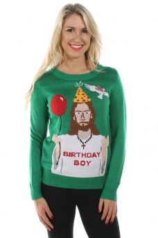 Women's Happy Birthday Jesus Sweater