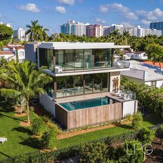 """Lifestyle Production Group on Instagram: """"This newly built tropical modern @choefflevyfischman designed residence offering expansive western views of the La Gorce Country Club Golf…"""" Modern Mansion, House Goals, Golf Courses, Florida, Tropical, Club, Mansions, Photo And Video, Lifestyle"""