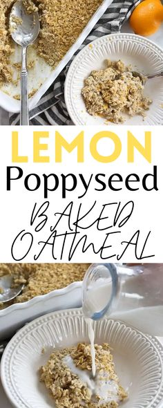This Lemon Poppyseed Baked Oatmeal is such a delicious breakfast recipe. It's creamy, comforting, and dairy-free!