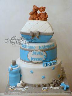 Babyshower cake  www.facebook.com/precioustaarten