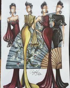 "161 Likes, 5 Comments - Fashion Designer (@aygul_safarli) on Instagram: ""#aygulsafarli #lovemyprofession #china #fashionsketch #fashiondesigner #fashionillustration…"""