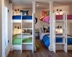 Neutral Kids' Room with Multiple Bunk Beds | HGTV