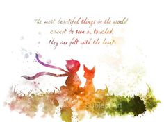 The Little Prince Quote 2nd Edition ART PRINT by SubjectArt