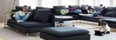 SÖDERHAMN sofa combination and rugs