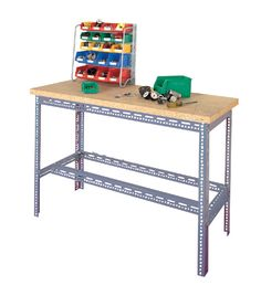 Workbench made from #Dexion slotted angle