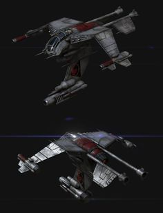 Terran Wraith model update WIP by xiaorobear on DeviantArt Star Wars Spaceships, Sci Fi Spaceships, Spaceship Art, Spaceship Design, Stargate, Starship Concept, Star Wars Vehicles, Sci Fi Ships, Stars Craft