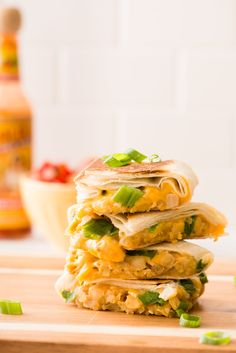 Chickpea and Cheddar Quesadillas