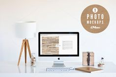 Check out 9 Amazing iMac photo mockups [wood] by show it better on Creative Market