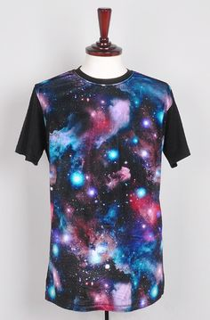 the korean fashion shop korea_top brand new 2013 galaxy cat colorfull t shirt
