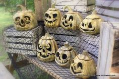 Step by step papermache jack o lanterns...plus so much more (dragons, demons, skulls, etc).  This guy is a genius